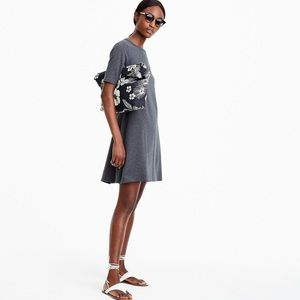 J Crew Short Sleeve Knit Dress in Heather Grey